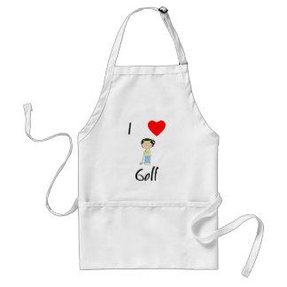 Amo el golf (3) delantal