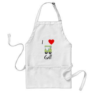 Amo el golf (4) delantal