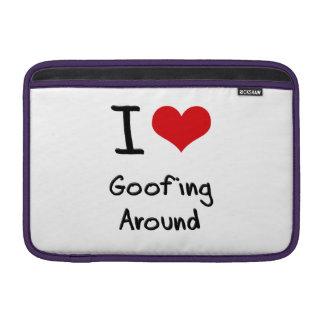 Amo el Goofing alrededor Fundas MacBook