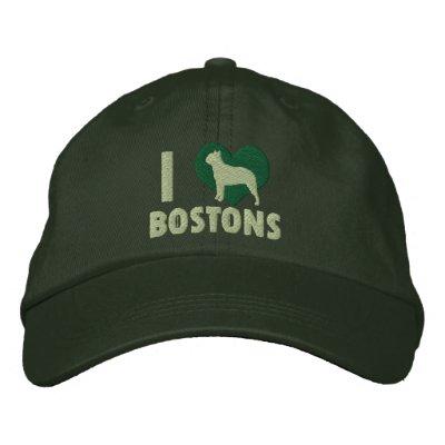 Amo el gorra bordado Bostons (el verde) Gorra Bordada