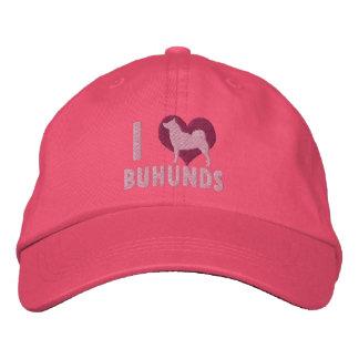Amo el gorra bordado Buhunds (el rosa) Gorras De Béisbol Bordadas