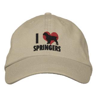 Amo el gorra bordado de los saltadores ingleses gorra bordada