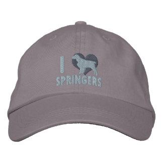 Amo el gorra bordado de los saltadores ingleses (l gorra bordada