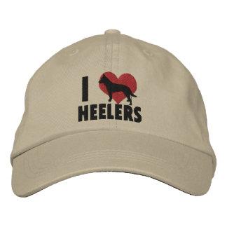 Amo el gorra bordado Heelers Gorras Bordadas