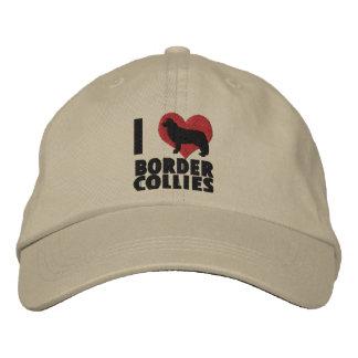 Amo el gorra bordado los borderes collies gorra de béisbol bordada
