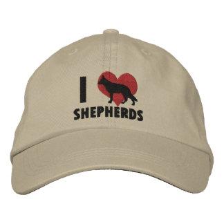 Amo el gorra bordado los pastores gorra de beisbol