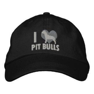 Amo el gorra bordado los pitbulls gorra de beisbol