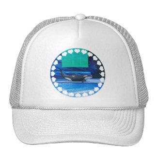 Amo el gorra de béisbol de las orcas