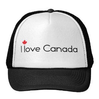 Amo el gorra de Canadá