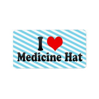 Amo el gorra de la medicina, Canadá Etiqueta De Dirección