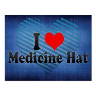 Amo el gorra de la medicina, Canadá Tarjetas Postales