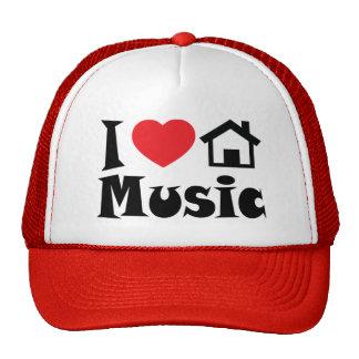 Amo el gorra de la música de la casa
