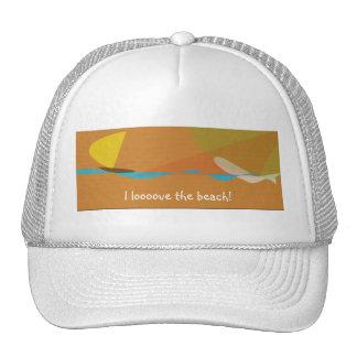 Amo el gorra de la playa