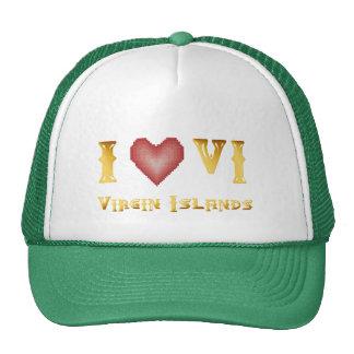 Amo el gorra de las Islas Vírgenes