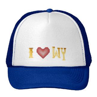 Amo el gorra de Wyoming