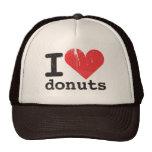 Amo el gorra del camionero de los anillos de espum