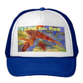 Amo el gorra del camionero de los pescados de Koi