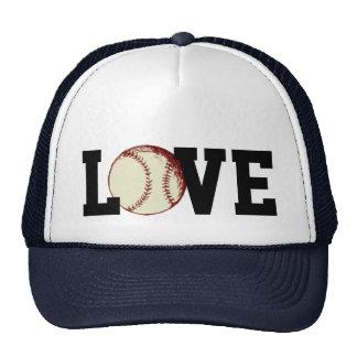 Amo el gorra del camionero del béisbol