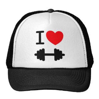 Amo el gorra del levantamiento de pesas