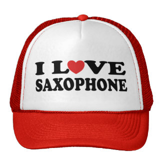 Amo el gorra del saxofón