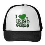 Amo el gorra irlandés de los chicas