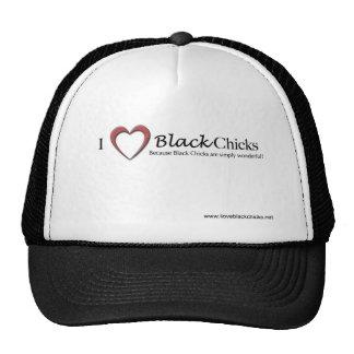 Amo el gorra negro de los polluelos