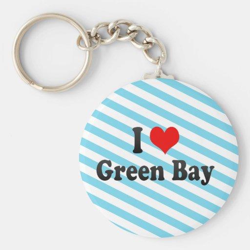 Amo el Green Bay, Estados Unidos Llavero Personalizado