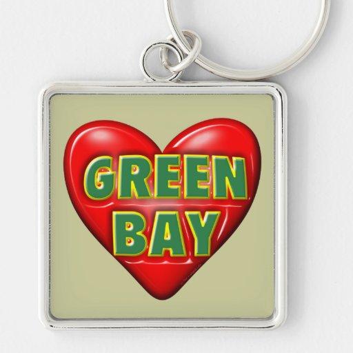 Amo el Green Bay Llaveros Personalizados