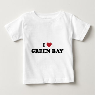 Amo el Green Bay Wisconsin Playera De Bebé