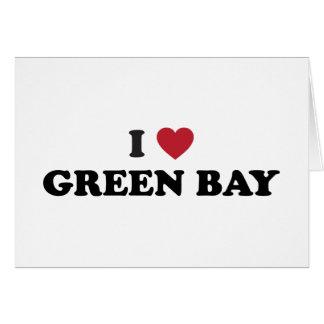 Amo el Green Bay Wisconsin Tarjeta De Felicitación