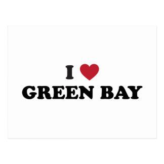 Amo el Green Bay Wisconsin Tarjetas Postales