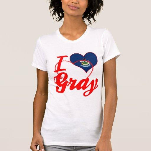 Amo el gris, Maine Camiseta