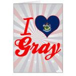 Amo el gris, Maine Tarjeta