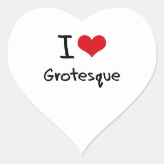 Amo el Grotesque Calcomanía De Corazón Personalizadas