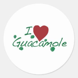 amo el guacamole pegatina redonda