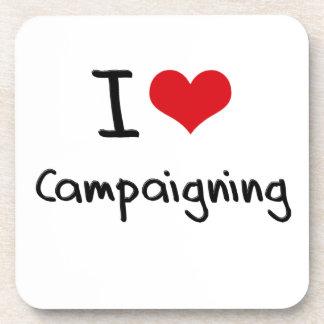 Amo el hacer campaña posavaso