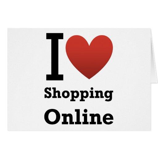 amo el hacer compras en línea felicitación