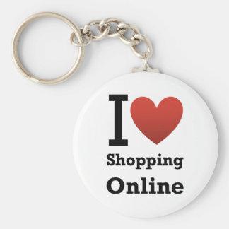 amo el hacer compras en línea llaveros
