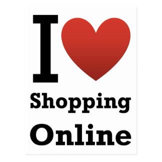 amo el hacer compras en línea postales