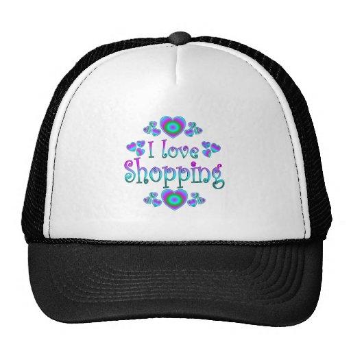 Amo el hacer compras gorra