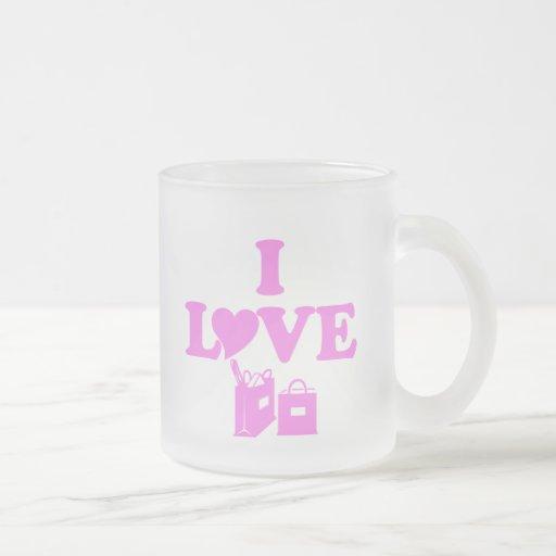 Amo el hacer compras taza de café
