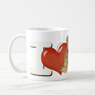 Amo el hacer de los osos personalizados taza de café
