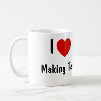 Amo el hacer de té taza de café