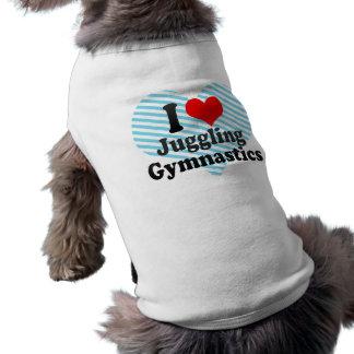 Amo el hacer juegos malabares de la gimnasia playera sin mangas para perro