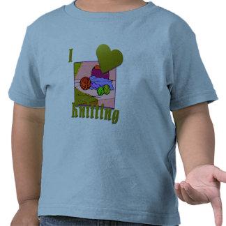 Amo el hacer punto de #2 camiseta