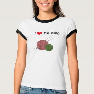 Amo el hacer punto de la camiseta gráfica del playeras