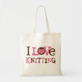 Amo el hacer punto (el regalo del calcetero) bolsa tela barata
