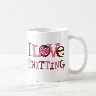 Amo el hacer punto (el regalo del calcetero) taza de café