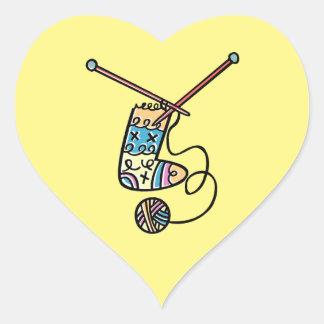 Amo el hacer punto pegatina en forma de corazón