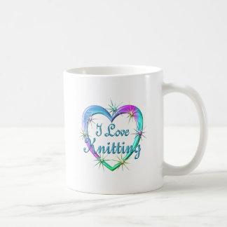 Amo el hacer punto taza de café